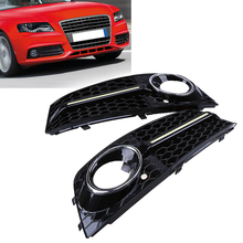 1 Pair Car Side Grille Grills Vent Auto Car Front Racing Grille Exterior Accessories For Audi A4 B8 2009 2010 2011 Car Parts