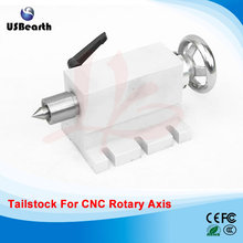 CNC Tailstock for Rotary Axis, A Axis, 4th Axis, CNC Router Engraver Milling Machine