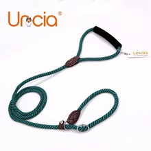 [Uncia]8mm Diameter Stripled Green and Black Pet Collar and Leash Set Small Dog Sponge Handle Training and Puppy Walking Lead(China)