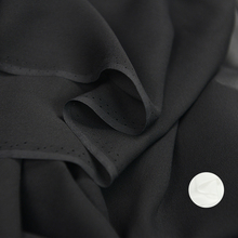 114*100cm,10m/m,High Quality Wedding Dress Material Black White Silk Georgette Fabric Sheer(China)