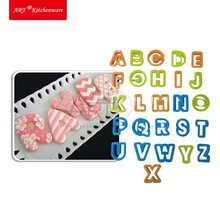 26pcs/set Alphabet Mold Cookie Cutter Set,Baking Fondant Cutter,Biscuit Cutter, Cake Letters AT-PC-26(China)