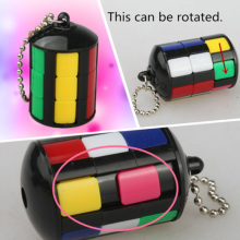 New Hot Colorful Magic Tower Speed Puzzle Cube Keyring Anti Stress Keychain Toys Fancy Gift For Men Women Chaveiro VQ324