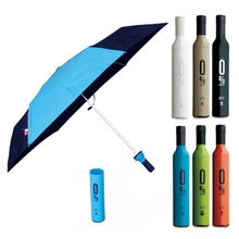 Novelty Rain Sun Umbrella Portable Beer Wine Bottle Red Creative Foldable Umbrella Sunny Rainy Umbrellas Blue/Green/Pink/White(China)