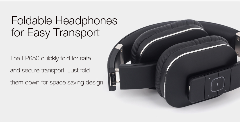 August EP650 Fodable Wireless Bluetooth Headphones
