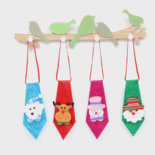 1pc Christmas Children Tie Santa Claus Snowman Reindeer Bear Ties Christmas Decoration for Xmas Ornaments Supplies(China)