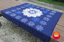 Tie dye Unique Original Design flower and butterfly Decorations / Handmade Shibori Table Cloth Many Uses Mats pads Cover /Export