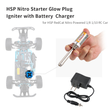 Nitro Starter Kit Glow Plug Igniter with Battery Charger for HSP RedCat Nitro Powered 1/8 1/10 RC Car(China)