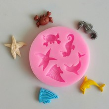 Sea Animal Silicone Mould Cake Decorating Fondant Mold Tool Seahorse New Shells
