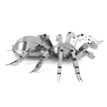 Tarantula 3D Metal Puzzle DIY Assemble Scale Model Insect Animal Shape Stainless Steel Learning Education Toys Jigsaw Puzzle