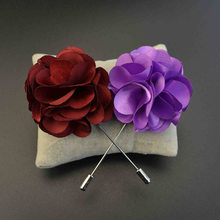 Mdiger Brand Handmade Fabric Brooch Wedding Brooch Bouquet Gentlemen Lapel Pins Fashion Flower Brooch for Men Suit Men Lapel Pin