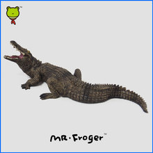 Mr.Froger Crocodiles Model In Action Figure Toy Hobbies Wild animals toys for children zoo party Crocodilian Reptile Decortions