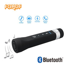 FGHGF Portable Outdoor Bluetooth Bicycle Bike Speaker LED Torch, Phone Charging, MP3 Player, SOS light, FM Radio 3 in 1 Speaker(China)