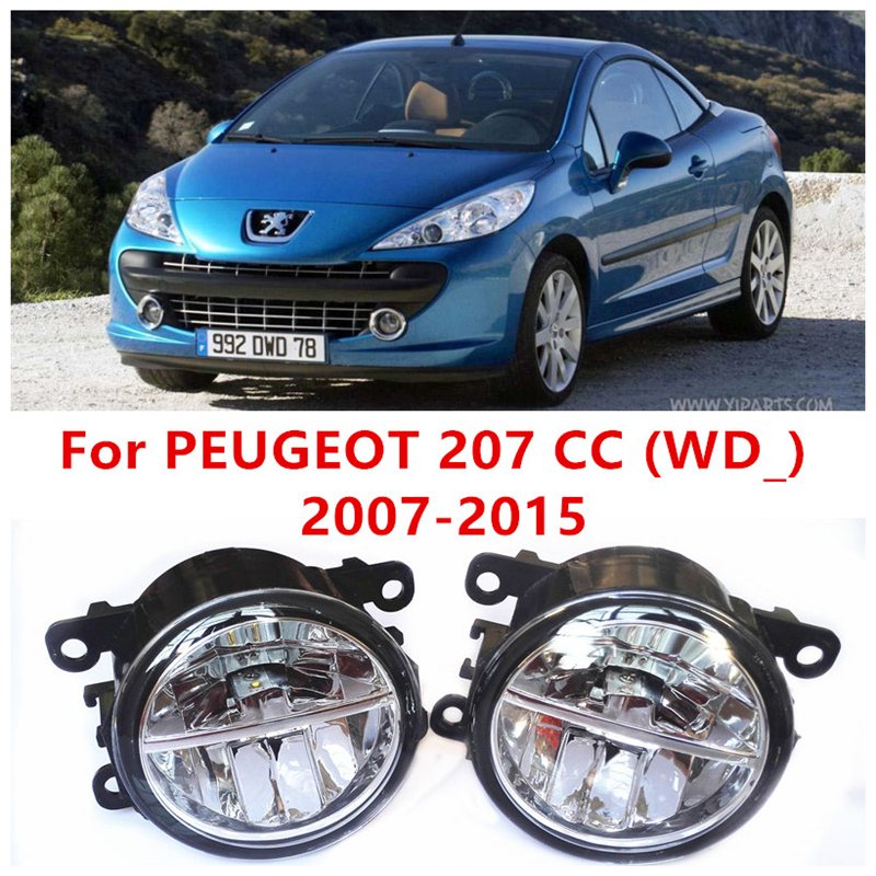 For PEUGEOT 207 CC (WD_) 2007-2015 10W Fog Light LED DRL Daytime Running Lights Car Styling lamps<br><br>Aliexpress