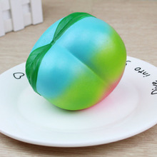 Cindiry Key Chain Rainbow Peach Squishy Slow Rising Jumbo Fruit Bun Mochi Soft Squeeze Phone Strap Bread Cake Fun Gift P20(China)