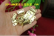 Promotion New Arrival Freeshipping 20 * 16mm Hinge Ingot Small Wooden Wine Lace Butterfly Flat(China)