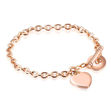 2017 Girls Custom Engraved Bracelet Women's Jewelry Personalized Name Love Heart Hand Chain Arm Charm Band Bracelets Lover Gift(China)