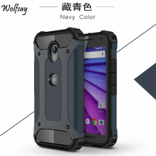 For Motorola Moto G3 Case XT1541 XT1542 XT1543 Slim Armor Anti-Shock Silicone Rubber Hard PC Phone Case For Moto G3 Cover #