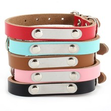 Personalized DIY PU Leather Pet Puppy Dog Cat Collar Carving Name Letter Collar