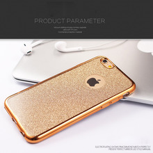 Cover For Apple iPhone 5 5s 6 6s 6 Plus Luxury Back Shiny Powder Style Soft Sillicon Clear TPU Phone case bags