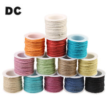 DC 10 yard 14 colors 2.5mm Colored Knitted Hemp Cord Rope fit Braided Bracelet DIY Jewelry Necklace Making Findings Accessories(China)