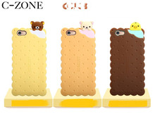 C-ZONE For iPhone 6 6s 6Plus 6sPlus Biscuit Phone Case Rilakkuma Cookie Phone Bags & Cases For iPhone 7 7 Plus 8 8 Plus Cover(China)