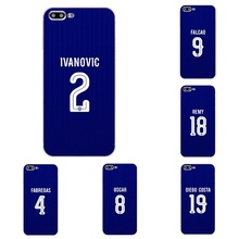 "For Apple iPhone 7 Plus Cover Phone Case 5 5C SE Shell 4.7"" 6 6S 5.5 Inch Transparent Cover Soft  Chelsea Football Club Pattern"