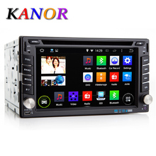 Kanor 6.2 inch 2 Din Android Car Dvd Player Audio Stereo For Universal Gps Navigation Steering-Wheel Radio Recorder Wifi Map