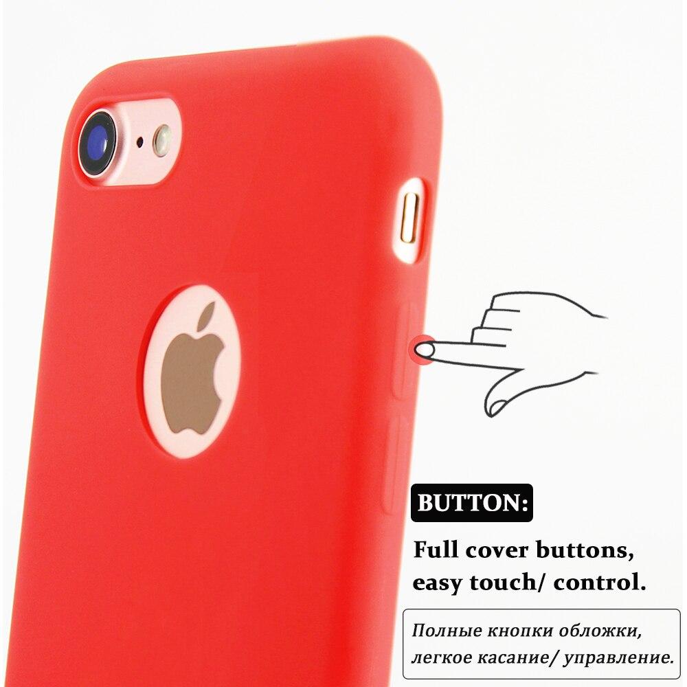 KIP71149_6_Matte Pure Color Soft TPU Case for iPhone 7