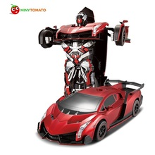 Free Shipping Luxury Sports Car Models Deformation Robot Transformation Remote Control RC Car Toys for Kids Christmas Gift TT667
