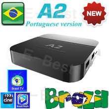 2pc HTV BOX A2 new update from htv5 box Brazilian Portugal Internet IPTV Box KODI Live Brazilian TV HD Streaming Box HTV brazil(China)
