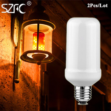 SZFC Three mode LED Corn Lamp Bulb 99LEDs E27 E26 Flame Dimmable Light Bulb Flickering Breathing General Lighting Modes 90-240V(China)
