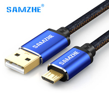 Buy Samzhe Micro USB Cable 1M 1.5M 2A Fast Charger Data Cable Denim Braided Mobile Phone USB Charging Cable samsung xiaomi LG for $3.91 in AliExpress store