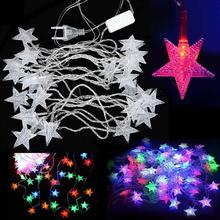 5M 28LED Pentagram String Fairy Cool Light Christmas Wedding Party Decoration Xmas tree lights led fairy lights fixtures PML(China)