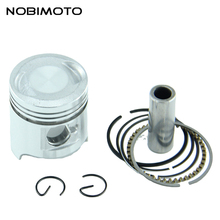 Motorcycle Piston Ring Pin Set Kit Assembly  ATV Dirt Bike for 2-stroke 50cc Moped Scooter Piston caliber Engine Parts HH-127