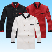 Shop Chef's Clothing Autumn Winter Kitchen Kitchen Clothes Men's & Ladies' Restaurant Chef Dress Uniforms Three Colors(China)