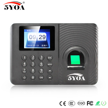 5YOA A10FY biometric fingerprint usb time clock English Spanish Portuguese Voice attendance recorder sensor machine reader