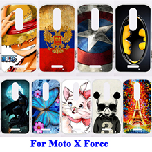 Phone Bags Cases For Motorola Moto X Force Case Soft TPU Phone Back Covers Painted Shield Smartphone Hood XT1585 XT1581