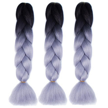 1Pc Colorful Chemical Fiber Big Braids Wigs African Pigtail Hair Halloween Christmas Party Bar Dance Decorations Funny Games nEW(China)