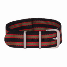 Buy 2 Get 20% OFF) Stripe Cambo 18 mm Multi Color Black Green Army Nato Nylon watchband Watch Strap Accessories Bands belt 18mm
