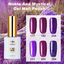 MRO 15ml Gel Nail Polish Varnish UV LED Purple Color Series UV Gel Base Top Coat  Lamp Nail Art Design Hot Sale Nail Gel Lacquer