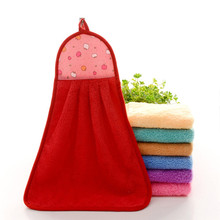 Hand Towel Soft Plush Hanging Wipe Bathing Towel Professional Jun5