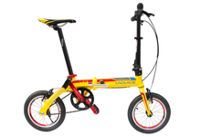 Fast Shipping 14'' Folding Bike Bicycle Portable City Sports Bike Mechanical Brakes Aluminum Frame Mini Foldable Bicycle