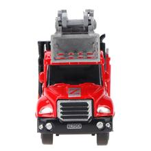 1 pc Red Diecast 1:64 Mini Alloy Vehicle Engineering Car Dump-car Dump Truck Model Car Classic Toy Christmas Gift for Boys