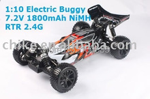 1/10 scale 4WD RC Buggy with 7.2V 1800mAh NIMH Battery RTR