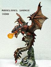 Free Shipping 1/9 Scale Unpainted Resin Figure monster hunter 140mm(China)