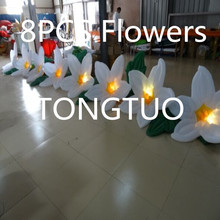 Fashional wedding stage decoration led inflatable flower(8m)(China)