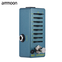 ammoon EQ7 Mini Guitar Equalizer Effect Pedal 7-Band EQ Aluminum Alloy Body True Bypass