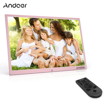 Andoer 17inch LED Digital Photo Frame 1080P Support Shuffle Play Aluminum Alloy with Remote Control Christmas Birthday Gift(China)