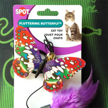 1PCS Noctilucent Symphony butterfly Creative Funny CatStick Pet Cat Toys Cheap Finger Hook Formula PlayingToys For Cats Kitten
