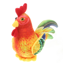 China Little Chicken Plush Toys Simulation Rooster Cock Small Plush Doll Home Decor Pendant Wedding Gift 17cm